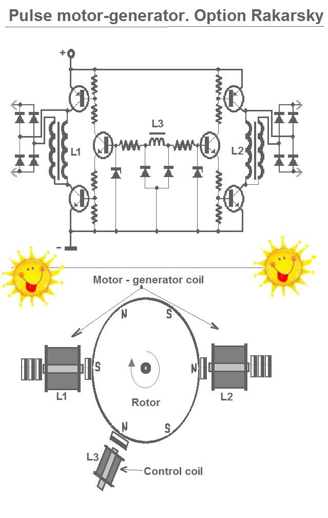 импульсный мотор генератор схема